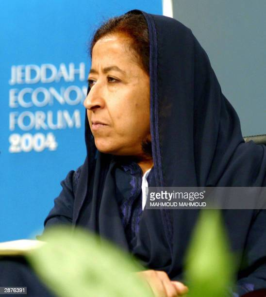 Saudi business woman Lubna alOlayan takes part in the Jeddah Economic Forum 17 January 2004 So long marginalised in Saudi Arabia women dominated...