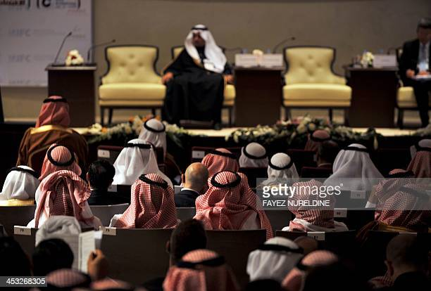 Saudi businessmen attend the Private Sector Middle East Conference in Riyadh on December 3 2013 AFP PHOTO/FAYEZ NURELDINE