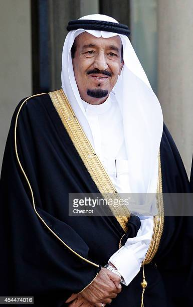 Saudi Crown Prince Salman Bin Abdulaziz AlSaud waits before his meeting with French President Francois Hollande at the Elysee Presidential Palace on...