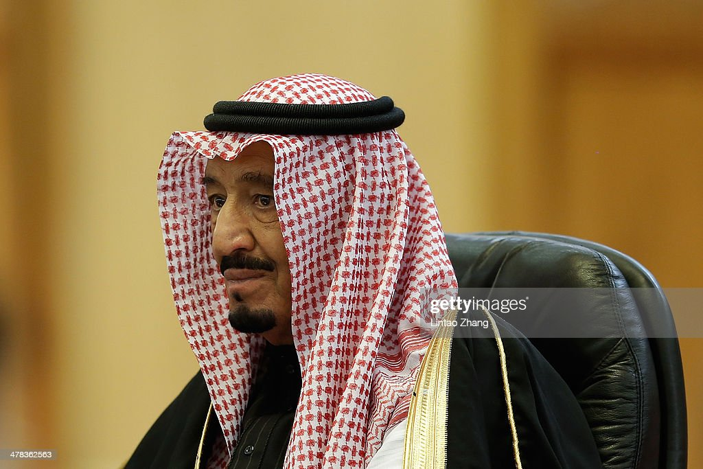 Saudi Crown Prince Salman bin Abdulaziz meets Chinese President Xi Jinping after a welcoming ceremony at the Great Hall of the People on March 13, 2014 in Beijing, China. Saudi Crown Prince Salman bin Abdulaziz will pay a four-day state visit to China from March 13 to 16.