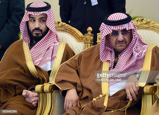 Saudi Defence Minister Mohamed bin Salman and Crown Prince and Interior Minister Mohammed bin Nayef attend the 136th Gulf Cooperation Council summit...