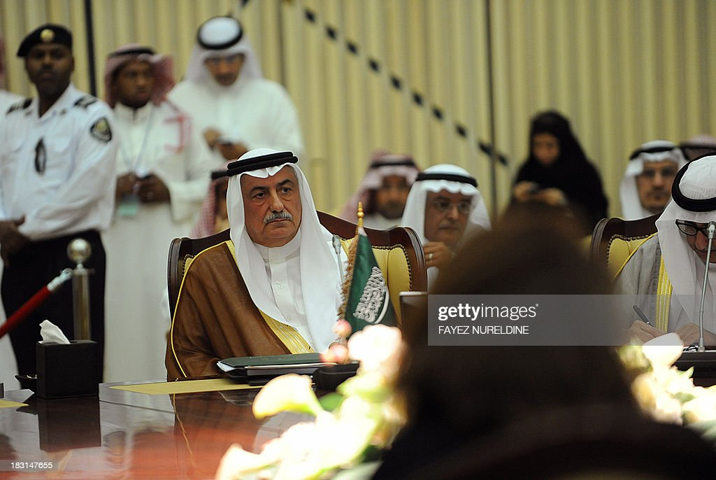 Saudi Finance Minister Ibrahim al-Assaf attends the Gulf Cooperation Council (GCC) finance ministers meeting in Riyadh on October 5, 2013.