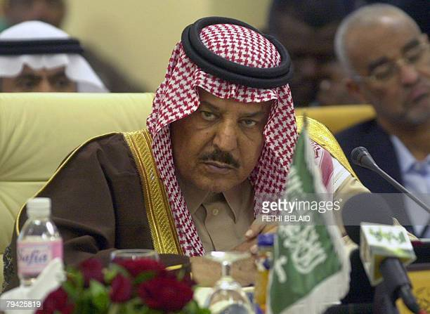 Saudi Interior Minister Prince Nayef bin Abdul Aziz alSaud attends the closing session of the 25th Arab Interior Minister's meeting in Tunis 31...