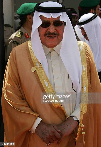 Saudi Interior Minister Prince Nayef bin Abdul Aziz alSaud waits to welcome Arab leaders one day before the start of the Arab Summit in Riyadh 27...