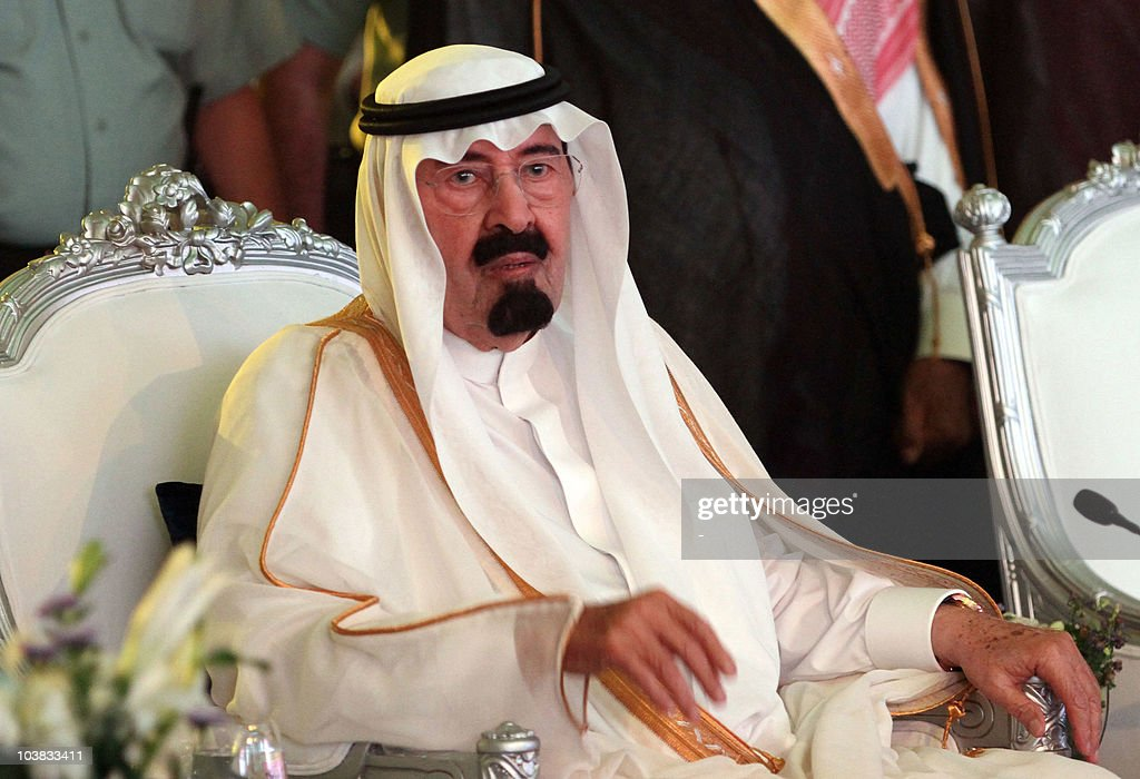 Saudi King Abdullah attends a ceremony inauguarting the expansion of the Zamzam waterworks, which serves up to Muslim worshippers the celebrated holy water from a spring beneath Mecca, on September 3, 2010.