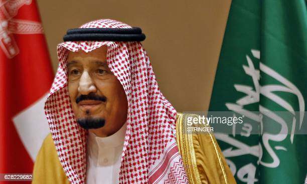 Saudi King Salman attends a Gulf Cooperation Council summit on December 7 in the Bahraini capital Manama / AFP / STRINGER