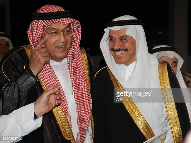 Saudi Minister of Labour Ghazi Abdul Rahman alGosaibi and Muhammad alJasser Vice Governor of the Saudi Arabian Monetary Agency arrive at the Jeddah...