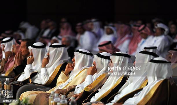 Saudi officials and businessmen attend the Euromoney conference on May 6 2014 in Riyadh The twoday conference focuses on Saudi Arabia's economy and...