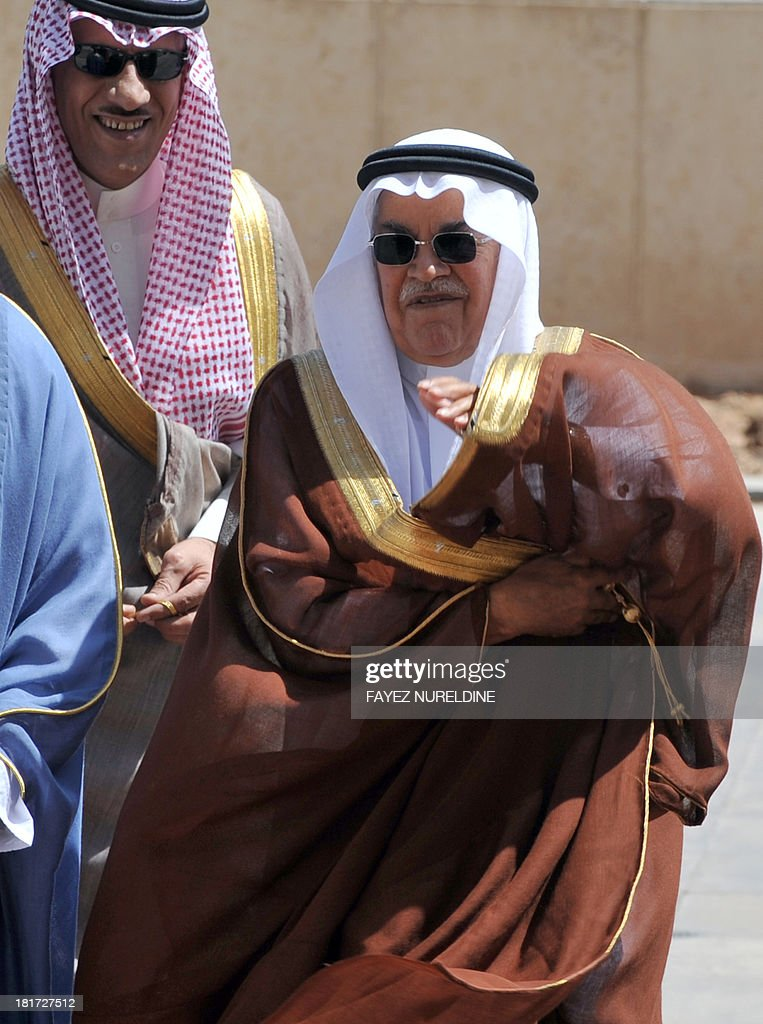 Saudi Oil and Energy Minister Ali al-Naimi arrives to attend the 32nd ordinary meeting of the Oil Ministers of Gulf Cooperation Council (GCC) for the Gulf states held in Saudi capital of Riyadh, on September 24, 2013.