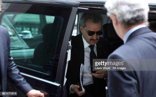 Saudi Prince AlWaleed Bin Talal Bin AbdulAziz AlSaud arrives at court where he is due to give evidence at a multimillion High Court fight over the...