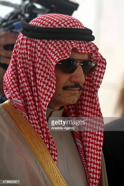 Saudi prince AlWaleed bin Talal is seen during an official visit to the West Bank city of Ramallah on March 4 2014
