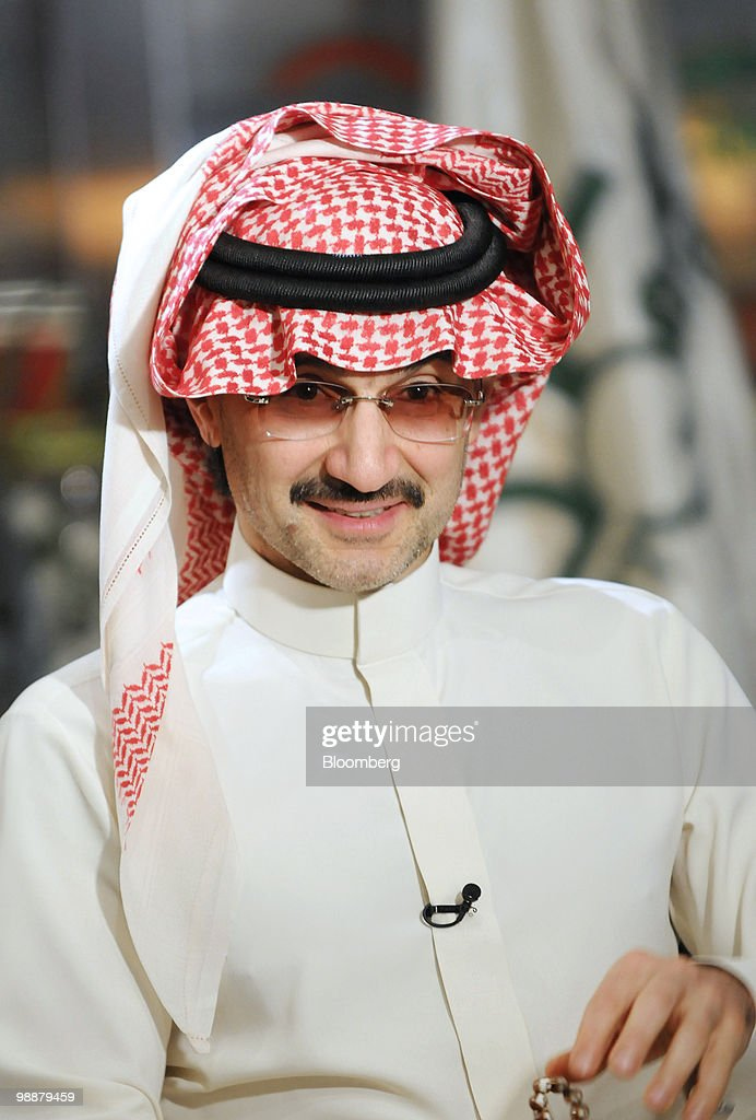 Saudi Prince Alwaleed bin Talal, speaks during an interview at the Kingdom Center in Riyadh, Saudi Arabia, on Tuesday, April 27, 2010. Alwaleed said he will continue working with Goldman Sachs Group Inc. after the U.S. regulator sued the most profitable securities firm in Wall Street history for misleading its investors. Photographer: Waseem Obaidi/Bloomberg via Getty Images