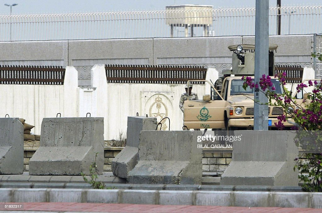 Saudi security forces take position in front of the US consulate in the Red Sea port city of Jeddah 07 December 2004 Osama bin Laden's AlQaeda...
