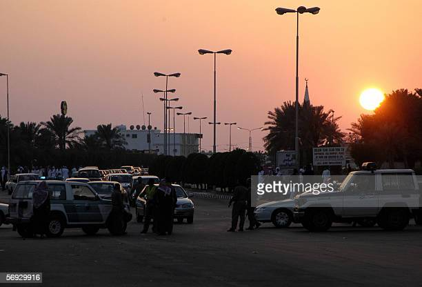 Saudi security men are deployed around the oil processing plant of the state oil giant Aramco in Abqaiq in the oilrich Eastern Province 24 February...