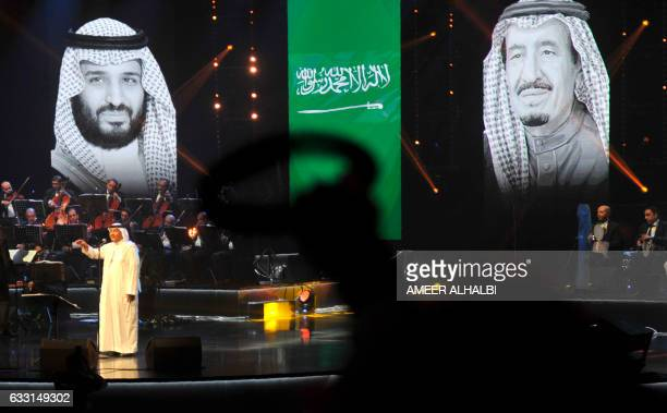 CORRECTION Saudi singer Mohammed Abdu performs during a concert in Jeddah on January 30 2017 Saudi Arabia's 'Paul McCartney' took to the stage as the...