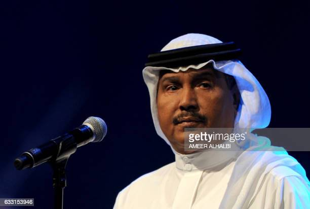 CORRECTION Saudi singer Mohammed Abdu performs during a concert in Jeddah on January 30 2017 Saudi Arabia's 'Paul McCartney' took to the stage in...