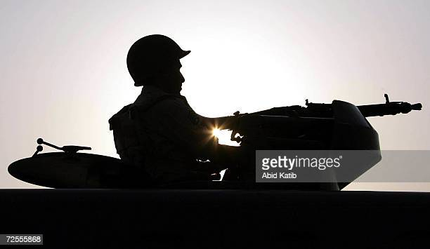 Saudi soldier takes part in a military parade January 15 2005 in Mecca Saudi Arabia Around two million Muslim pilgrims from around the world are...