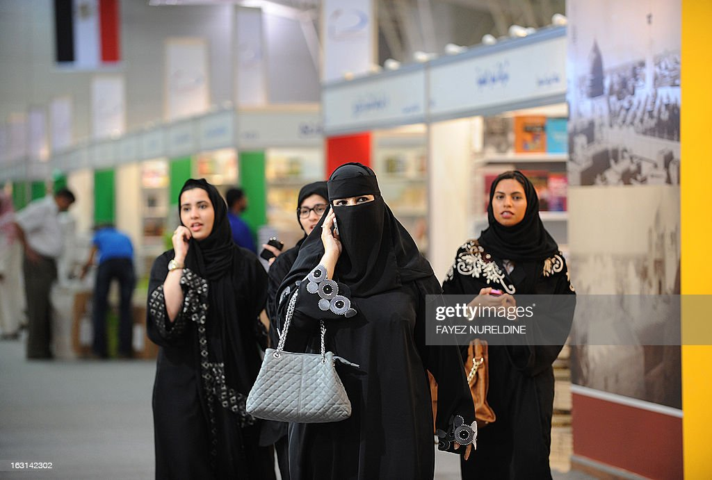 Saudi visitors attend the Riyadh International Book Fair on March 5, 2013 in the Saudi capital. The Exhibition opened officially today and will continue until March 15. AFP PHOTO/FAYEZ NURELDINE