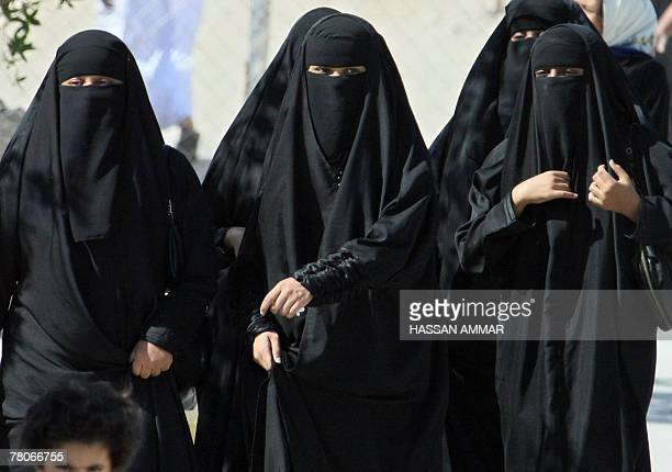 Saudi women cross a street in Hofuf city 250 kms east of the Saudi capital Riyadh 22 November 2007 A Saudi woman sentenced to six months in jail and...