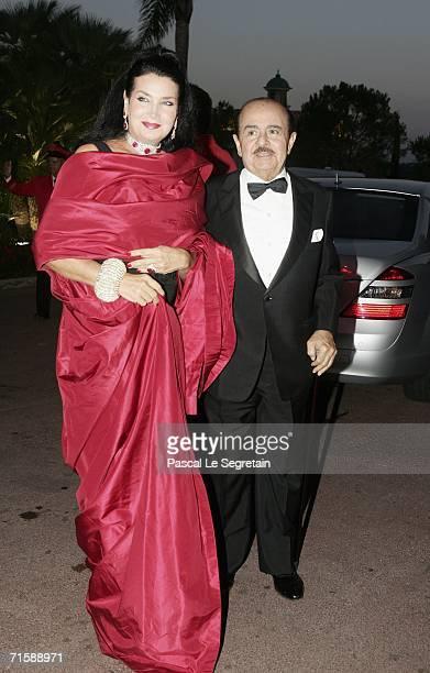 Saudiborn businessman Adnan Khashoggi and his wife Lamia arrive at the Monaco Red Cross Ball under the Presidency of HSH Prince Albert II in the...