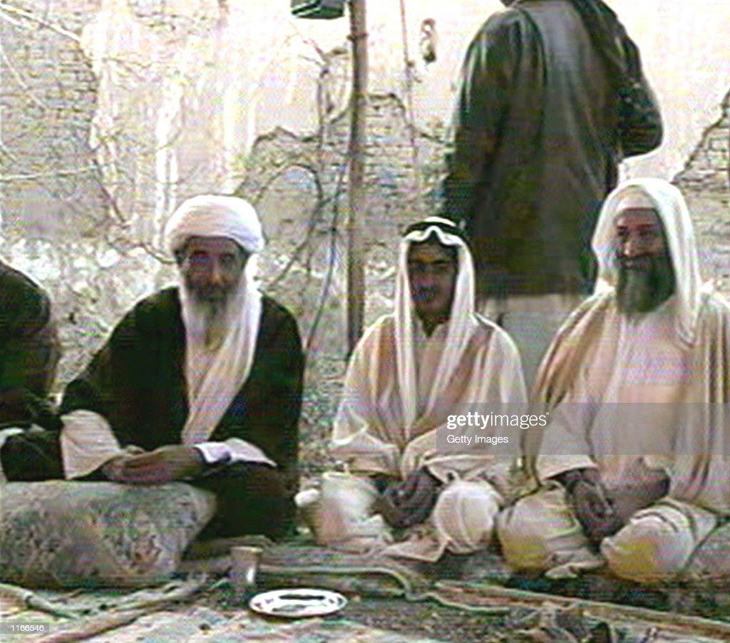Saudiborn terrorist suspect Osama bin Laden is seen in this photo by AlJazeera TV at the wedding of his son Mohammed bin Laden January 9 2001 in...