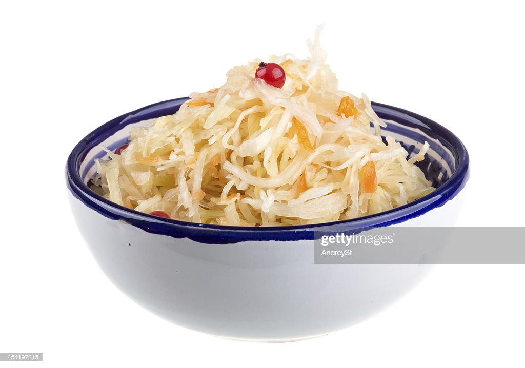 Sauerkraut - Russian national food : Stock Photo
