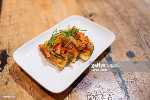 TORONTO ON NOVEMBER Sauerkraut wild mushroom with kimchi pierogi Weekly Now Open column This week on The Saucy Pierogi November 11 2015