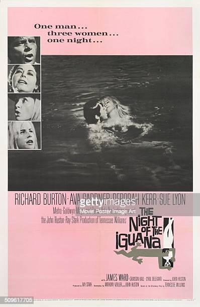 A Saul Bass deisgned poster for John Huston's 1964 drama 'The Night of the Iguana' starring Richard Burton Ava Gardner Deborah Kerr and Sue Lyon