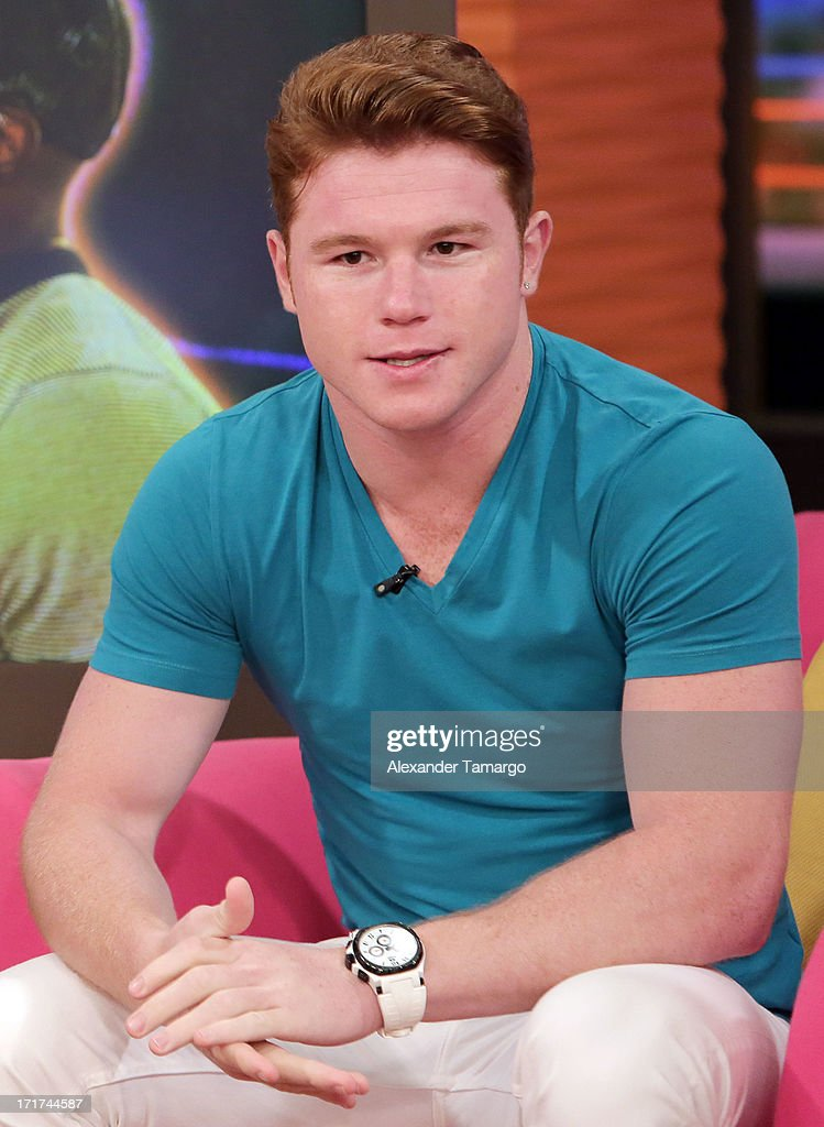 Saul 'Canelo' Alvarez appears on Univision's 'Despierta America' morning show at Univision Headquarters on June 28, 2013 in Miami, Florida.