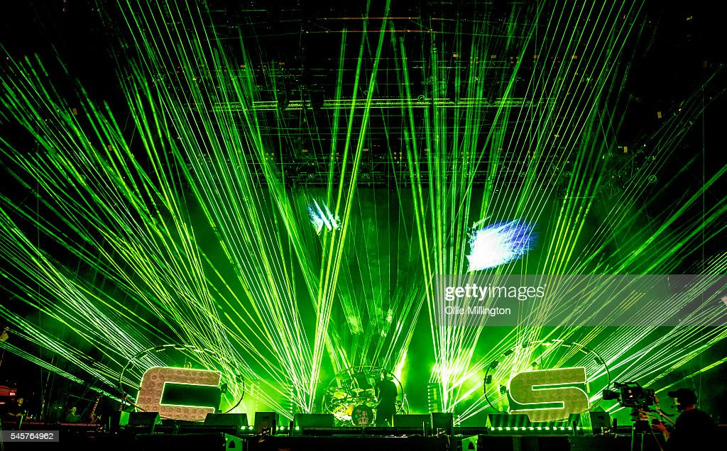 Saul 'Chase' Milton MC Rage and Will 'Status' Kennard of Chase Status perform onstage during the Chase status headline set at the end of Day 2 of...