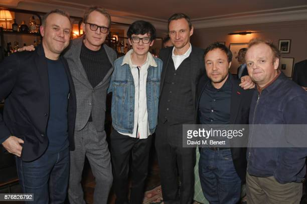 Saul Dibb Paul Bettany Asa Butterfield Zygi Kamasa Stephen Graham and Toby Jones attend a private dinner celebrating the special screening of...