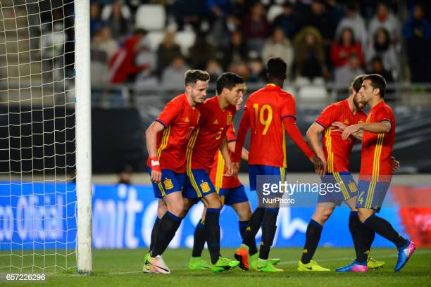 Saul Ñiguez during the friendly match of national teams U21 of Spain vs Denmark in stadium Nueva Condomina Murcia SPAIN March 23rd 2017