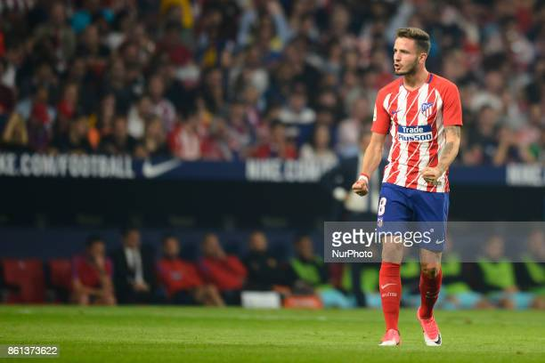 Saul Ñiguez during the match between Atletico de Madrid vs FC Barcelona week 8 of La Liga 2017/18 in Wanda Metropolitano Stadium Madrid 14th of...