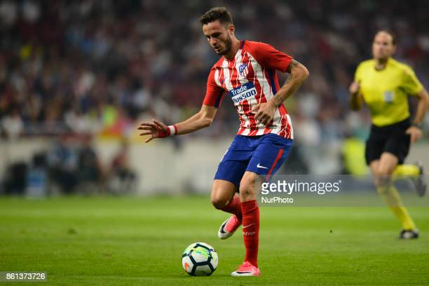 Saul Ñiguez during the match between Atletico de Madrid vs FC Barcelona week 8 of La Liga 2017/18 in Wanda Metropolitano Stadium Madrid 14th of...