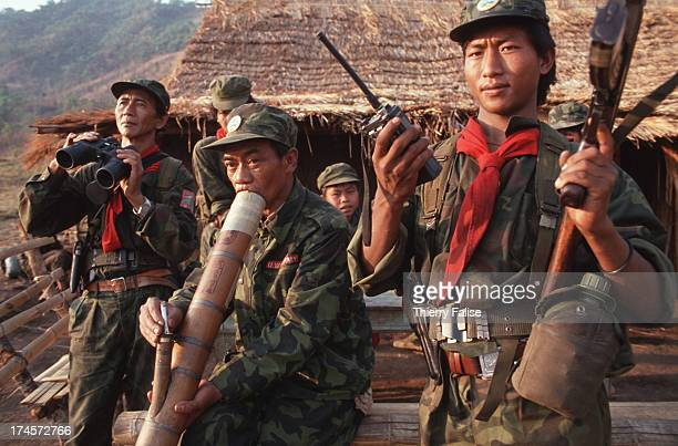 Saul Lu or Ta Pluik leader of an antidrug faction of the United Wa State Army during an expedition from Thailand's border to northern Wa State in...