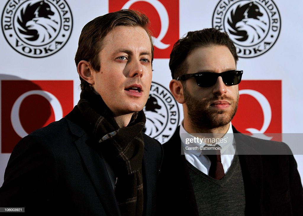 Saul Milton and Will Kennard of Chase and Status arrive at the Q Awards 2010 at Grosvenor House Hotel on October 25 2010 in London England