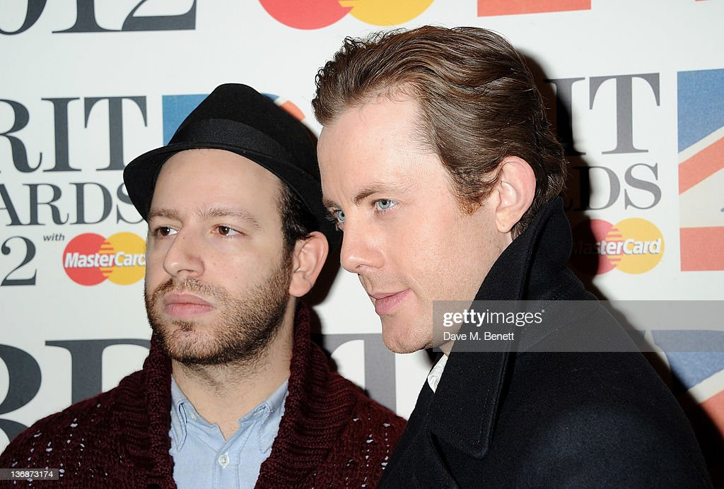 Saul Milton and Will Kennard of Chase and Status attend the nominations announcement for The BRIT Awards 2012 at The Savoy Hotel on January 12 2012...