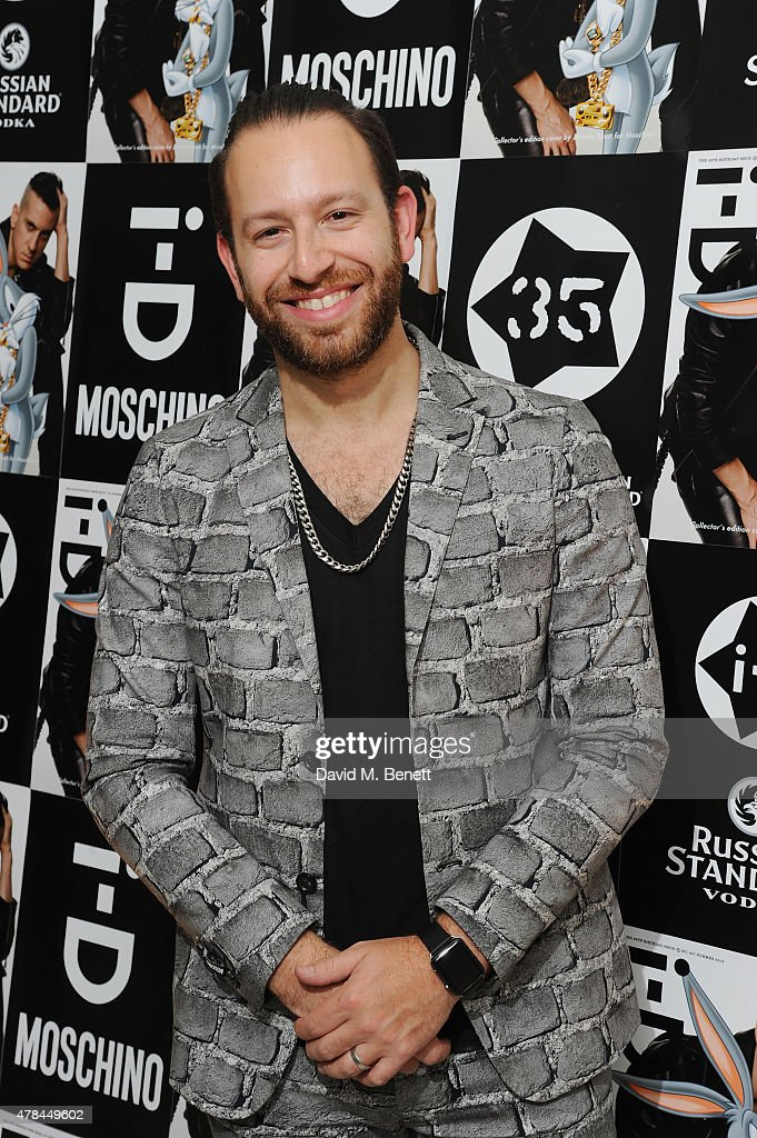 Saul Milton of Chase Status attends the iD 35 x Jeremy Scott for Moschino party celebrating iD Magazine's 35th anniversary at Il Bottaccio on June 24...