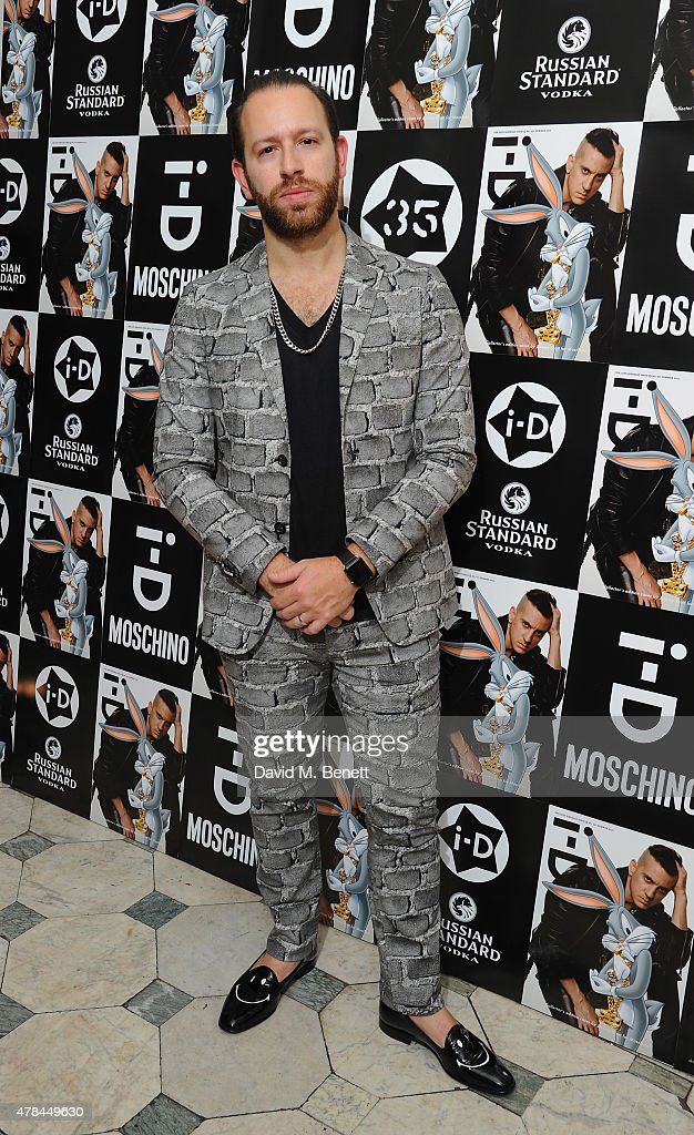 Saul Milton of Chase & Status attends the i-D 35 x Jeremy Scott for Moschino party celebrating i-D Magazine's 35th anniversary at Il Bottaccio on June 24, 2015 in London, England.