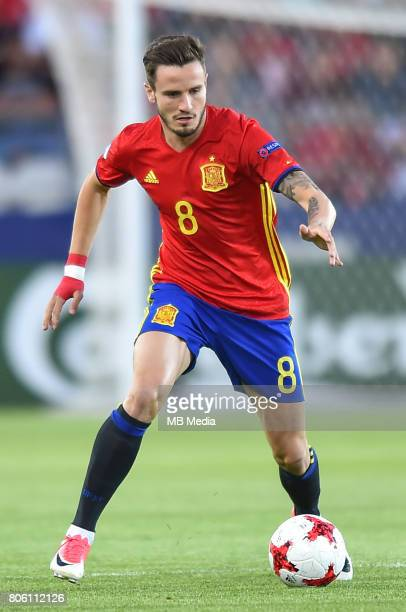 Saul Niguez during the UEFA European Under21 final match between Germany and Spain on June 30 2017 in Krakow Poland