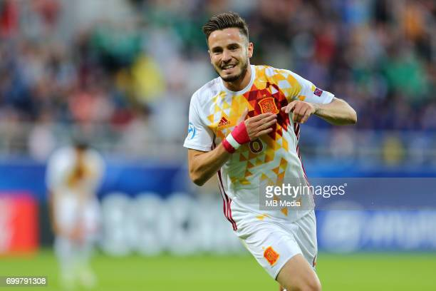 Saul Niguez during the UEFA European Under21 match between Portugal and Spain on June 20 2017 in Gdynia Poland