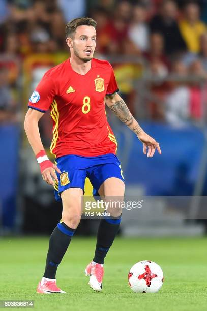 Saul Niguez during the UEFA European Under21 match between Spain and Italy on June 27 2017 in Krakow Poland