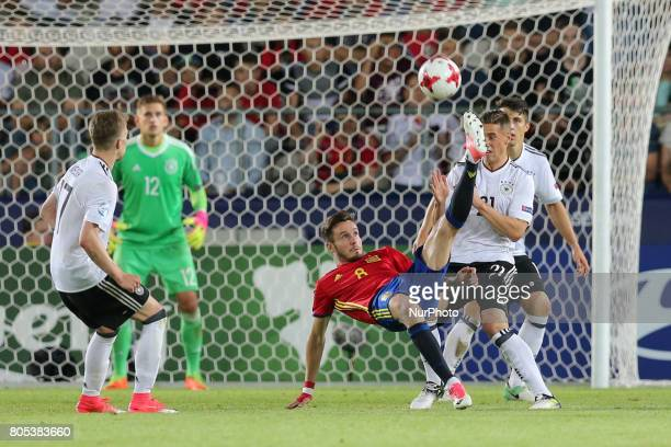 Saul Niguez during the UEFA U21 Final match between Germany and Spain at Krakow Stadium on June 30 2017 in Krakow Poland