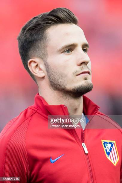 Saul Niguez Esclapez of Atletico de Madrid prior to the 201617 UEFA Champions League QuarterFinals 1st leg match between Atletico de Madrid and...