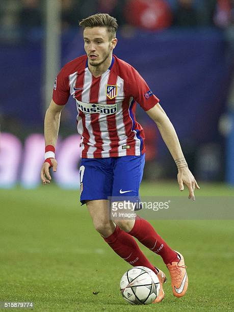 Saul Niguez of Club Atletico de Madrid during the UEFA Champions League Round of 16 Second leg match between Atletico madrid and PSV Eindhoven on...
