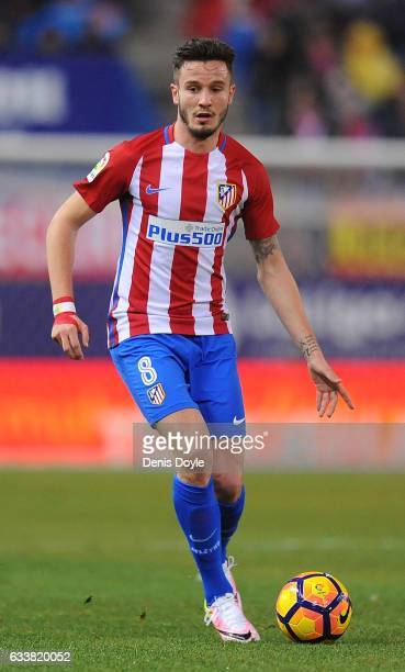Saul Niguez of Club Atletico de Madrid in action during the La Liga match between Club Atletico de Madrid and CD Leganes at Vicente Calderon Stadium...