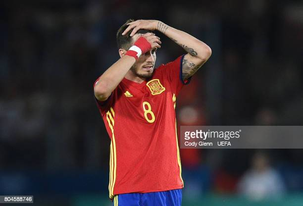 Saul Niguez of Spain after their UEFA European Under21 Championship 2017 final match against Germany on June 30 2017 in Krakow Poland