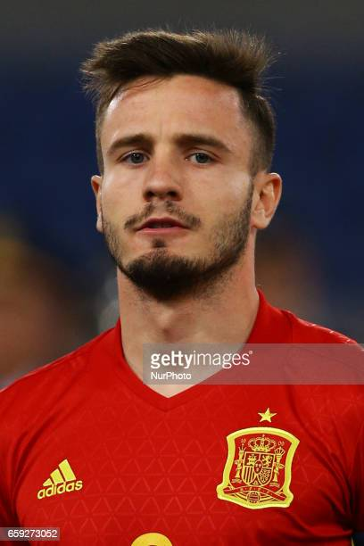 Saul Niguez of Spain at Olimpico Stadium in Rome Italy on March 27 2017