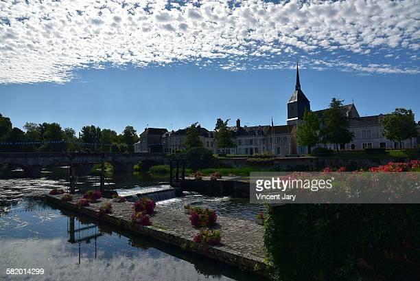 Sauldre river at Romorantin city