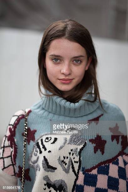 Saule Silinyte model attends the Anne Sofie Madsen show during Tokyo Fashion Weekon March 16 2016 in Tokyo Japan
